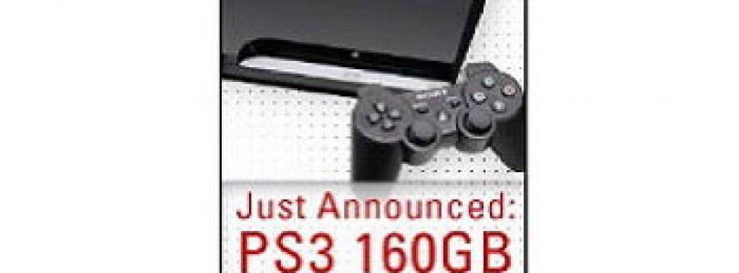 پدیدار شدن نسخه ی ۱۶۰ گیگابایت PS3 در اینترنت