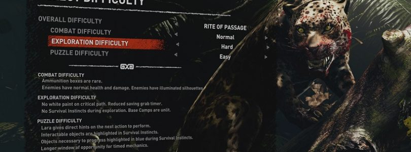 بازی «Shadow of the Tomb Raider»، در بخشهای مختلف گیمپلی، شامل درجات سختی متفاوتی خواهد بود