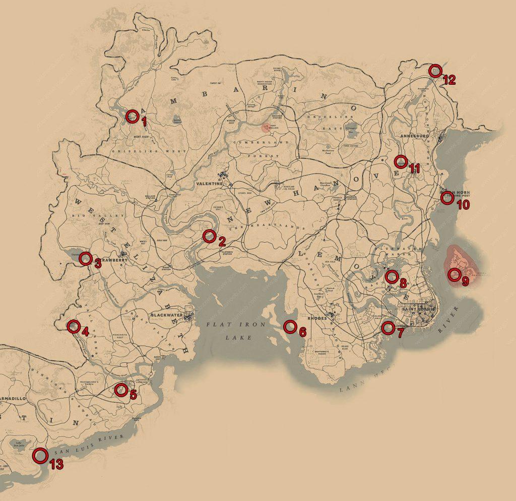 نقشه کامل بازی رد دد۲