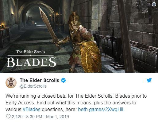 بازی Elder Scrolls: Blades